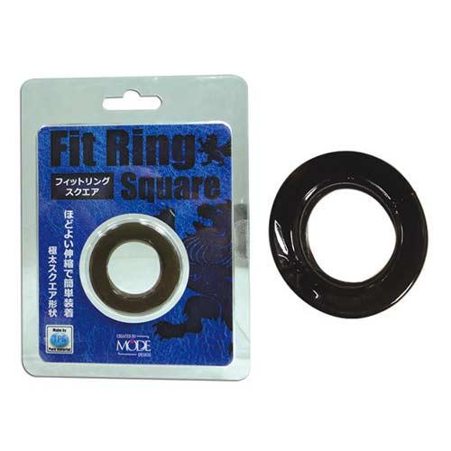 日本MODE Fit Ring Square男用屌環(透明黑) *