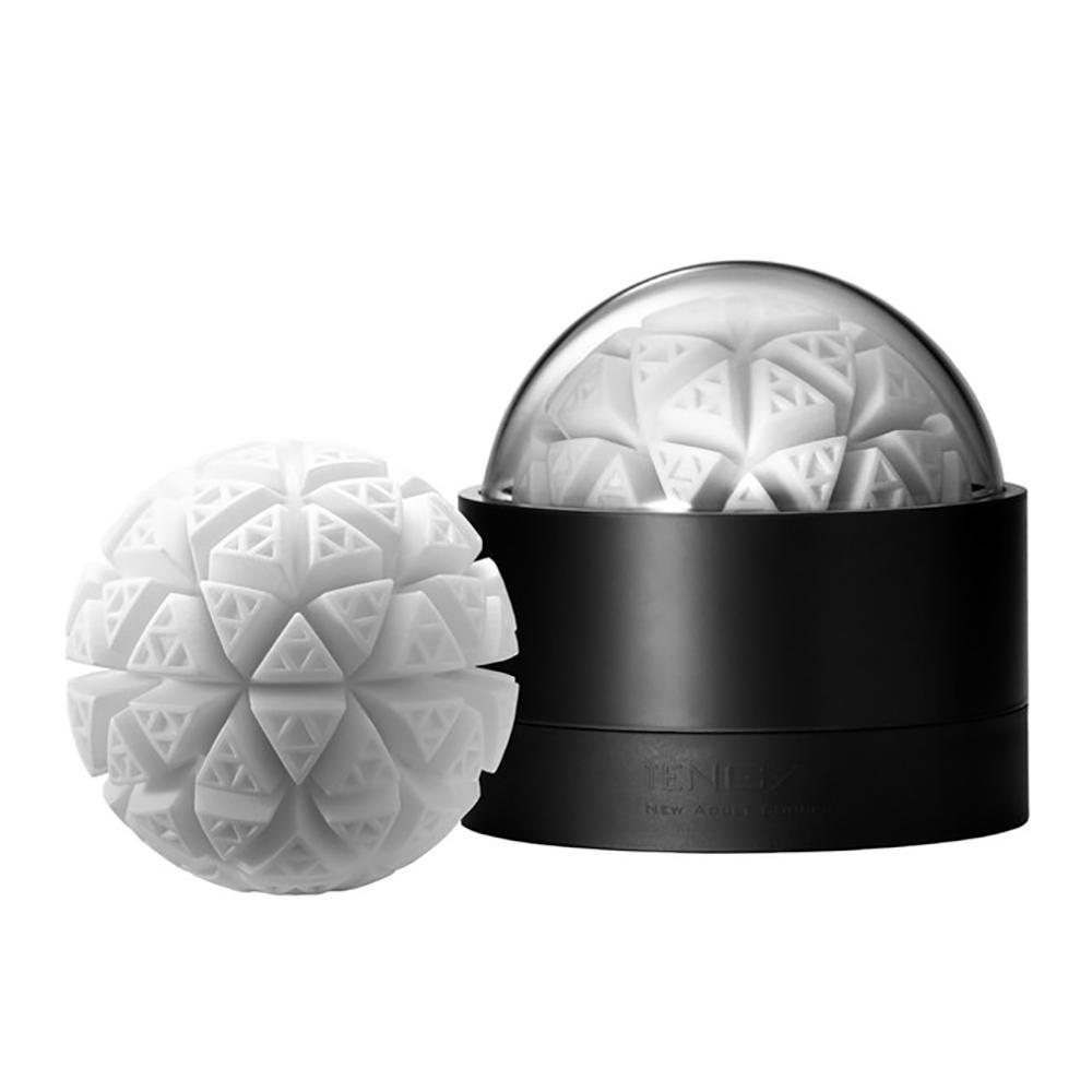 日本TENGA GEO探索球GLACIER冰河球造型重複使用男用自慰套