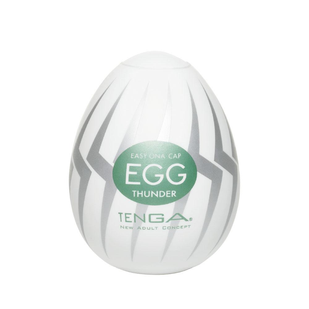 日本TENGA一次性奇趣蛋自慰蛋 EGG高彈力系列 EGG-007閃電型挺趣蛋(THUNDER)