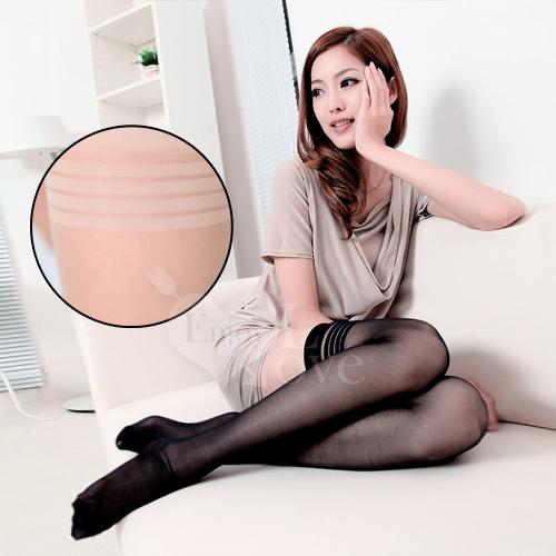 fashion 超彈性透明性感長筒絲襪﹝膚色款﹞